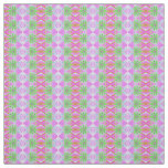 Pretty pink green jewel fractal pattern fabric