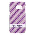 Pretty Pink Purple Pattern Design Samsung Galaxy S7 Case