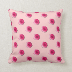 Pretty Pink Roses Repeat Patern Pillows