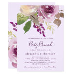 Pretty Purple Flowers | Baby Brunch Invitation