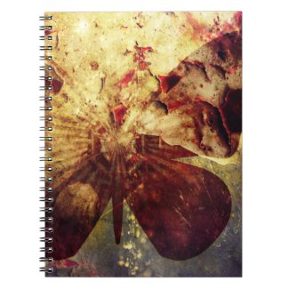 Pretty Rustic Grunge Butterfly Wings Note Book