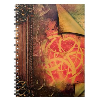 Pretty Tribal Fantasy Ancient Tome Magic Book Spiral Notebooks