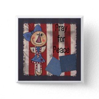Primitive American Angel button