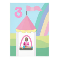 Princess Castle Girls Birthday Party Custom Invite