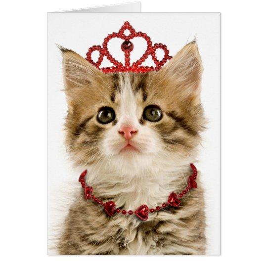 Princess Kitten Valentines Day Card