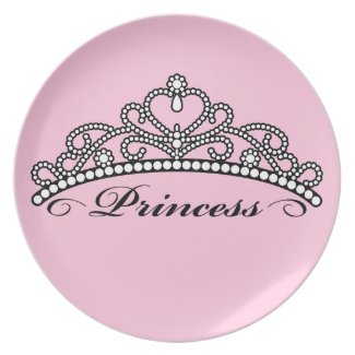 Princess Tiara Plate (pink background)