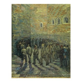 Prisoners Exercising by Vincent van Gogh print