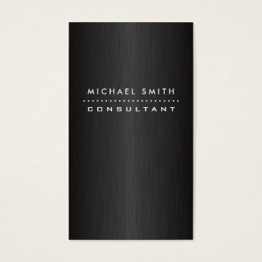 Professional Elegant Modern Black  Brushed Metal Business Card
