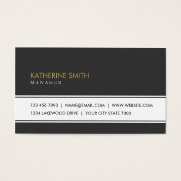 Professional Elegant Plain Simple Black and White Business Card