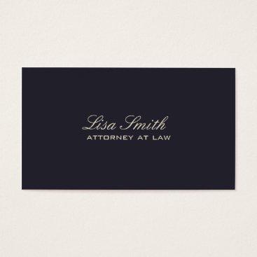 Professional Elegant Simple Plain Attorney Groupon Business Card
