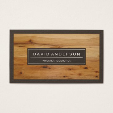 Professional Modern Wood Grain Look Business Card