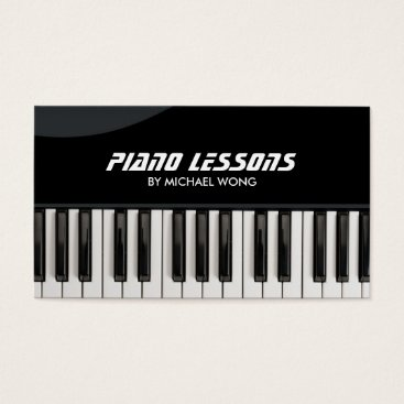 Professional Piano Lessons Business Card