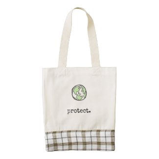 Protect Our Planet Zazzle HEART Tote Bag