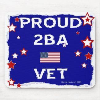 Proud 2BA Vet - In Honor - Mousepad