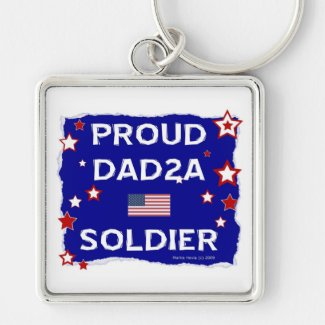 Proud Dad 2A Soldier Keychains