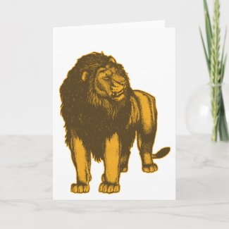 Proud Lion Greeting Card card
