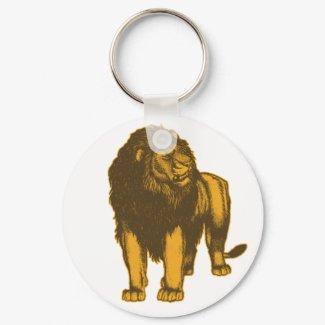 Proud Lion Keychain keychain