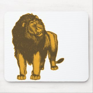 Proud Lion Mousepad mousepad