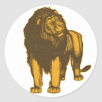 Proud Lion Sticker sticker