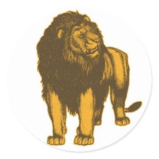 Proud Lion Sticker sticker