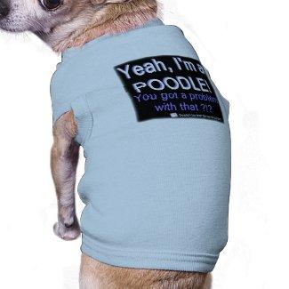 Proud Poodle - (Blue) - Dog Shirt