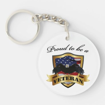 Proud to be a Veteran Keychain