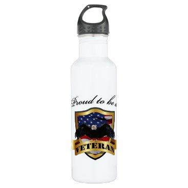 Proud to be a Veteran Water Bottle