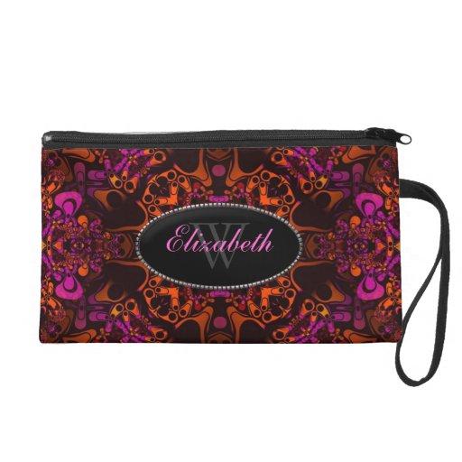 Psychedelic Batik Custom Fashion Accessory Wristlet