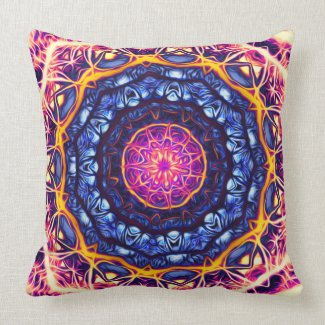 Psychedelic Kaleidoscope 6 (fractal love) Pillows mojo_throwpillow