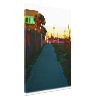 Public Beach Access Trail From Beach Gallery Wrapped Canvas