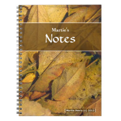 Puddle Leaves Notebook