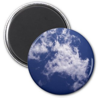 Pulled Cotton Clouds Magnet magnet