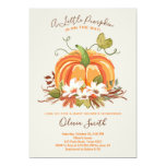 Pumpkin Baby shower invitation Autumn Fall Neutral