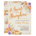 Pumpkin Baby Shower Invitation Rustic Fall Shower