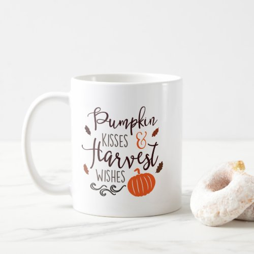 Pumpkin Kisses and Harvest Wishes Coffee Mug