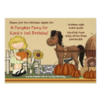 Pumpkin Patch Girl Invitation