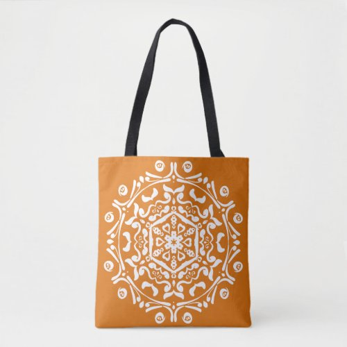 Pumpkin Pie Mandala Tote Bag