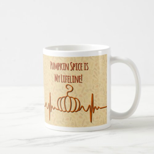 Pumpkin Spice Lifeline Coffee Mug