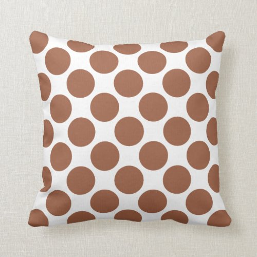 Pumpkin Spice Polka Dots Throw Pillow
