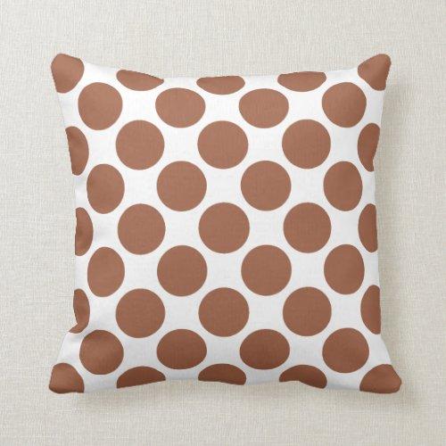 Pumpkin Spice Polka Dots Throw Pillow