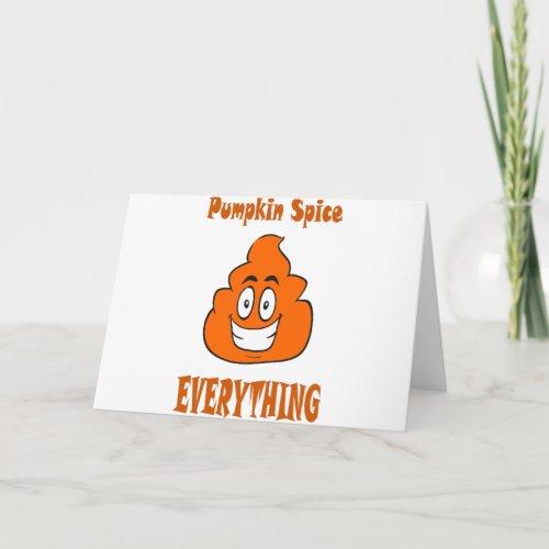 pumpkin spice poop card