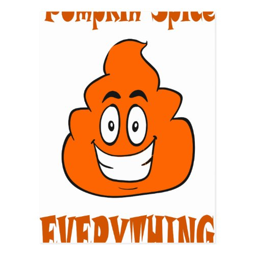 pumpkin spice poop postcard