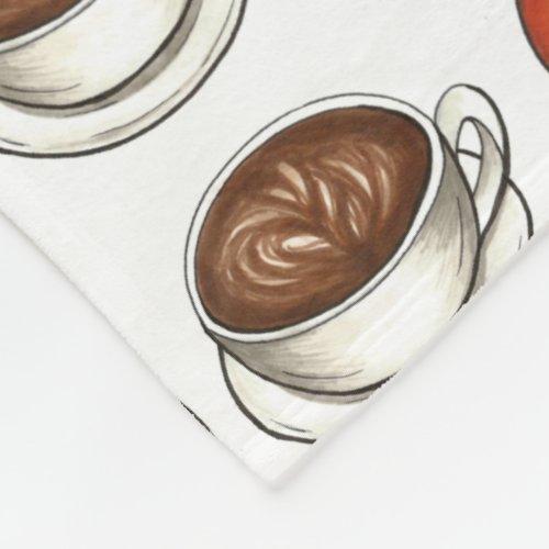 Pumpkin Spice Season Coffee Latte Autumn Fall Fleece Blanket
