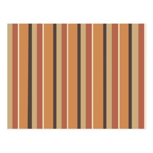 Pumpkin Spice Stripes Postcard
