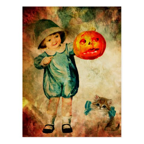 PUMPKIN TIME POSTCARD