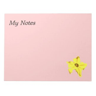 Pumpkinflower notepad