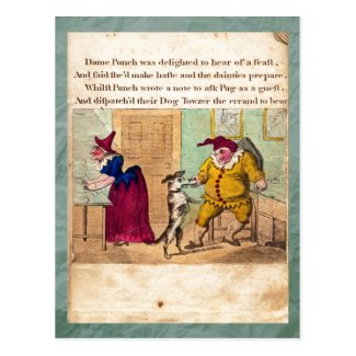 Punch & Judy Story Plate II Postcard Post Cards