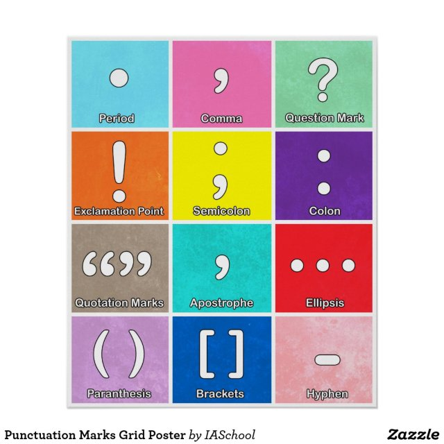 Punctuation Marks Grid Poster