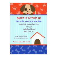Puppy Dog Birthday Party Invitations