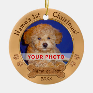 Puppy's First Christmas Ornaments 2 PHOTOS, TEXT